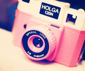 pink, camera, and holga image