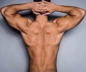 back, men, and muscles image