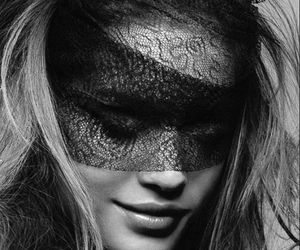 beauty, face, and lace image