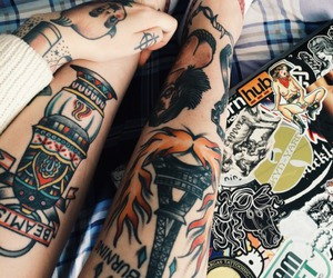 awesome, girl, and inked image