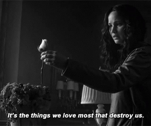 quotes, destroy, and hunger games image