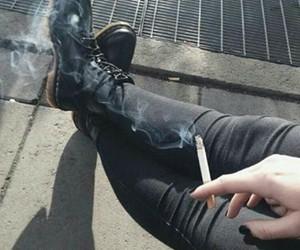 smoke, grunge, and cigarette image