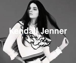 black&white, girl, and kendall jenner image