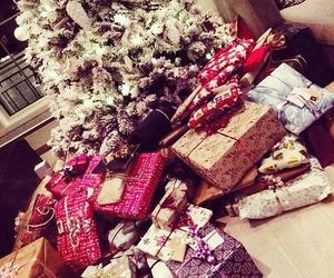 christmas, presents, and tree image
