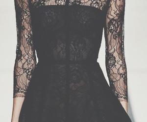 black, dress, and love image