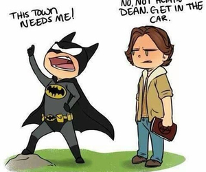 supernatural, batman, and dean image