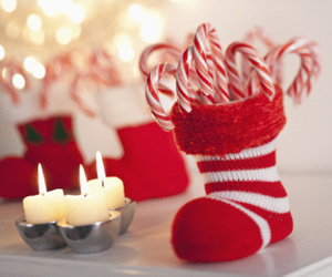 christmas, red, and candle image