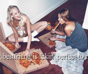 pizza, text, and blonde image