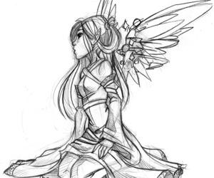 cartoon, girl, and drawing image