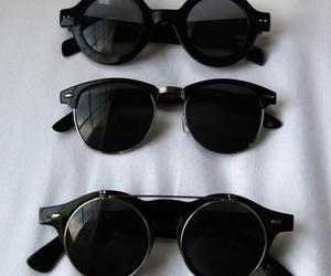black and glasses image