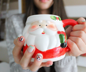christmas, santa, and mug image
