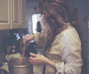 girl, cooking, and cook image