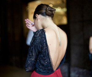 fashion, girl, and back image