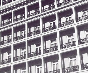 architecture, Athens, and b&w image