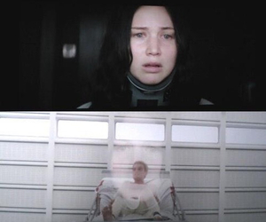 mockingjay, peeta, and the hunger games image