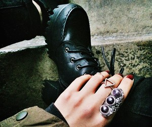 cold, grunge, and rings image