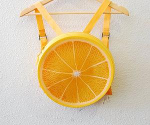 orange, fruit, and backpack image