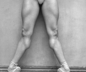 ballerina, muscles, and ballet image