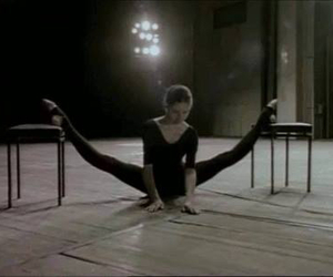 ballerina, split, and stretching image
