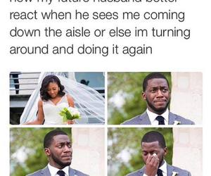 funny, wedding, and future image