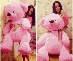pink and bear image