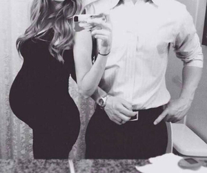 b&w, black and white, and couple image