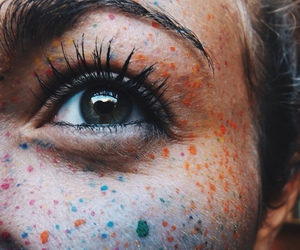 eyes, eye, and colors image