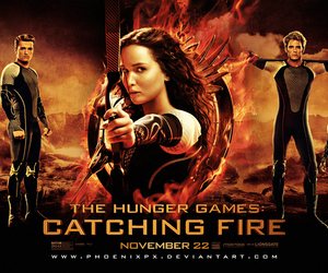 hunger games, catching fire, and katniss image