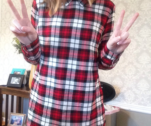 flannel, P, and peace image
