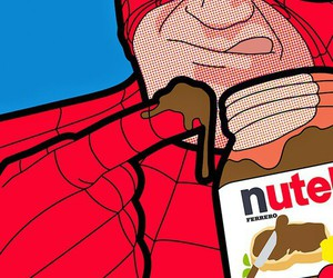 nutella, spiderman, and pop art image