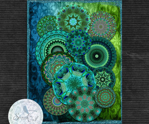 Collage, craft supplies, and digital image