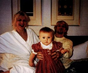 Courtney Love, kurt cobain, and frances bean cobain image