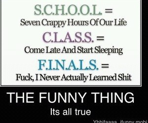 class, finals, and school image