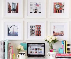 cute, decor, and desk image