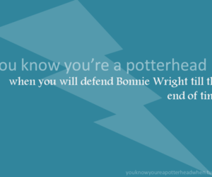 bonnie wright, harry potter, and potterhead image