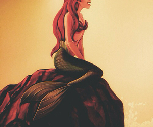 ariel, drawing, and sand image