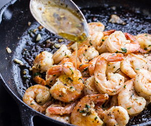 food, shrimp, and delicious image