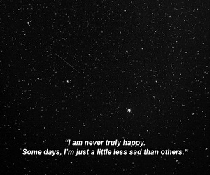 sad, quotes, and stars image