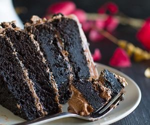chocolate cake, nutella, and delicious image