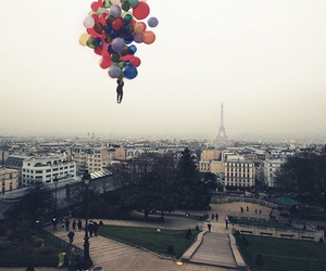balloons, paris, and scenery image