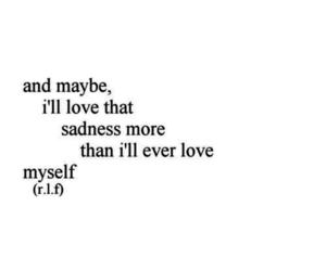 sadness, depression, and love image