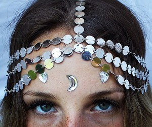 girl, moon, and indie image