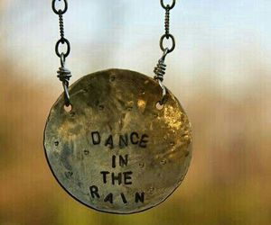 dance, necklace, and rain image
