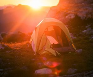 camp, daybreak, and tent image