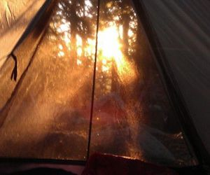 camp, tent, and morning image