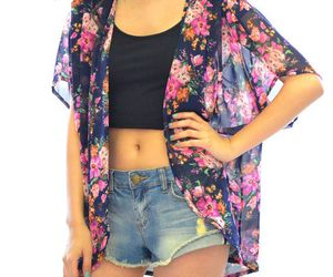 cardigan, crop, and fashion image