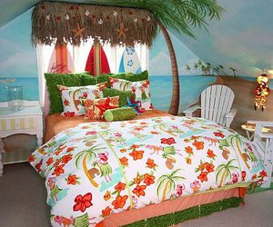 bedroom and tropical image