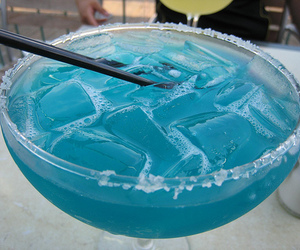 drink, blue, and ice image