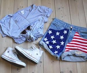 fashion, shorts, and usa image