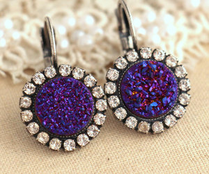 bridal jewelry, earrings, and purple image
